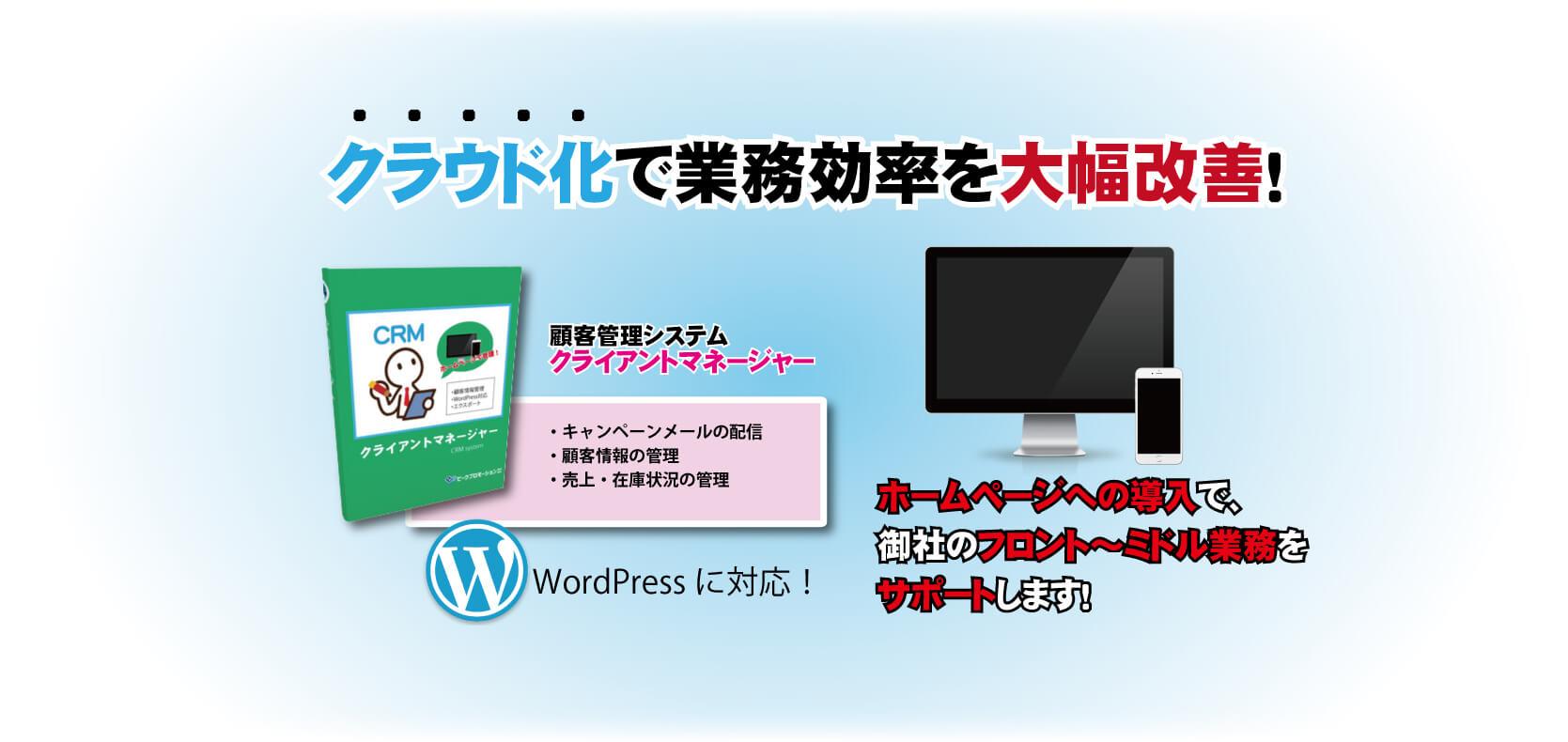 WEBシステムで最大効率化を