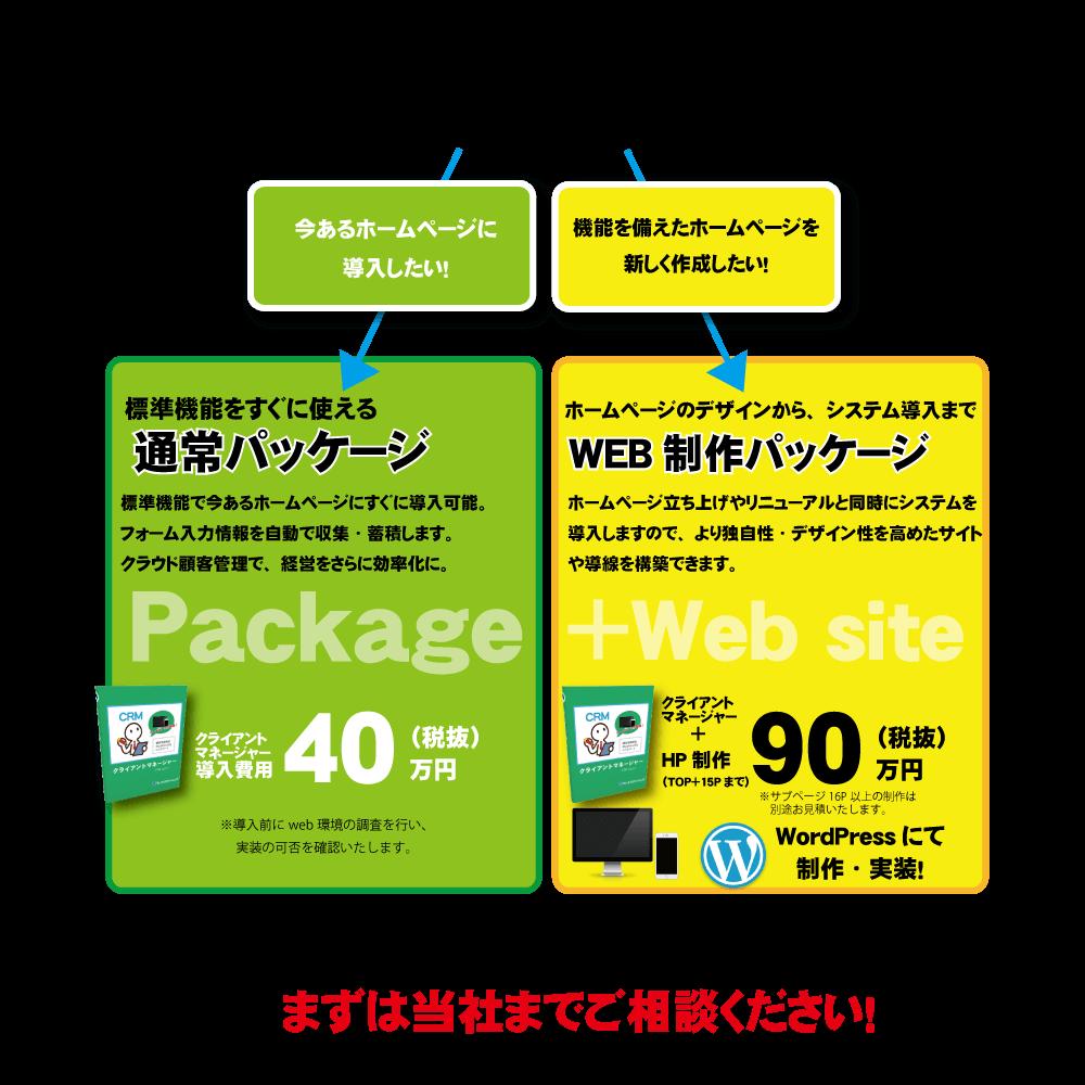WEBシステム導入料金例